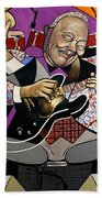King Of The Blues Beach Towel