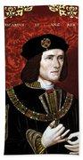 King Richard IIi Of England Beach Towel