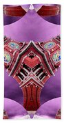 King Street Station In Fractal 2 Beach Towel