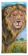 Kingdom Of The Lion Beach Towel
