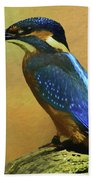 Kingfisher Perch Beach Towel