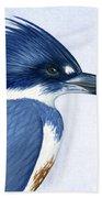 Kingfisher Portrait Beach Towel