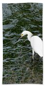 Kingston Jamaica Egret Beach Towel
