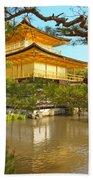 Kinkakuji Golden Pavilion Kyoto Beach Towel