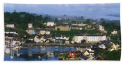 Kinsale, Co Cork, Ireland View Of Boats Beach Towel