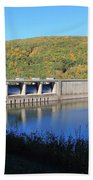 Kinzua Dam Beach Towel by Rick Morgan