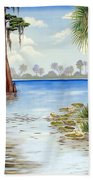Kissimee River Shore Beach Towel
