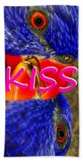 Kissing Birds Spca Beach Towel