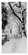 Kissing Gate In The Snow Beach Towel