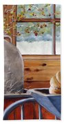 Kitchen Scene Beach Towel