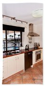 Kitchen With A River View Beach Towel