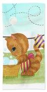 Kittens Washing Mittens Beach Towel