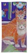 Kittens With Wild Wool Beach Towel