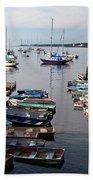 Kittery Point Fishing Boats Beach Towel