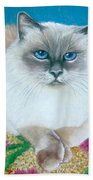 Kitty Coiffure Beach Towel