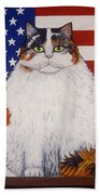 Kitty Ross Beach Towel by Linda Mears