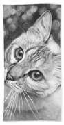 Kitty The Cat Beach Towel