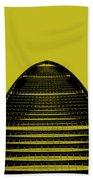 Kk100 Shenzhen Skyscraper Art Yellow Beach Towel
