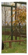 Klever, Yuli The Younger 1882-1942 Autumn Twilight Beach Towel