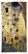 Klimt: The Kiss, 1907-08 Beach Towel