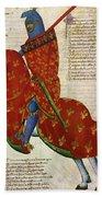 Knight, 14th Century Beach Towel