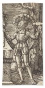 Knight In Armour With Bread And Wine Beach Towel