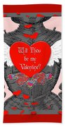 Knight Valentine Beach Towel