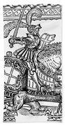 Knights: English, 1527 Beach Towel