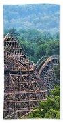 Knobels Wooden Roller Coaster  Beach Towel