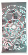 Knotplot 3 - Use Red-cyan 3d Glasses Beach Towel