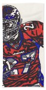 Knowshon Moreno 2 Beach Towel by Jeremiah Colley