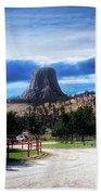 Koa Devils Tower Wyoming Beach Towel