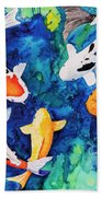 Koi Family Beach Towel
