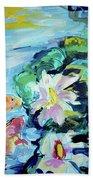 Koi Fish And Water Lilies Beach Sheet