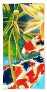 Koi Fish #104 Beach Towel