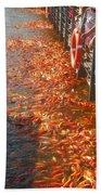 Koi Fishes In Feeding Frenzy Part Two Beach Towel