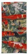 Koi Karp Beach Towel by Gareth Lloyd Ball
