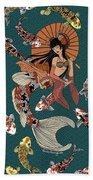 Koi Mermaid 2/4 Beach Towel