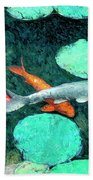 Koi Pond 3 Beach Towel