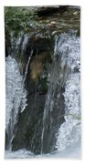 Koi Pond Waterfall Beach Towel