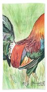 Kokee Rooster Beach Towel