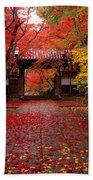 Komyoji Temple  Kyoto Japan Beach Towel