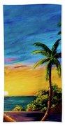 Ko'olina Sunset On The West Side Of Oahu Hawaii #299 Beach Sheet