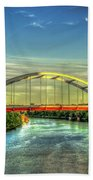 Korean Veterans Memorial Bridge 2 Nashville Tennessee Sunset Art Beach Towel