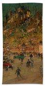 Korovin, Konstantin 1861-1939 Les Grands Boulevards, Paris Beach Towel