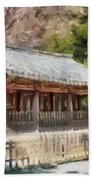 Kotoku-in Temple Beach Towel