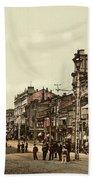 Krestchatik Street In Kiev - Ukraine - Ca 1900 Beach Towel