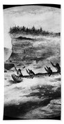 Krieghoff: Canoe On Rapids Beach Towel