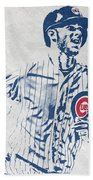 kris bryant CHICAGO CUBS PIXEL ART 2 Beach Towel