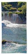 Krka National Park Waterfalls 5 Beach Towel